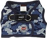 Puppia PARA-HB1523-NC-M Navy Camo Bobby Harness B Pet-Vest-Harnesses, Medium