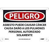 National Marker Corp. SPD22A Peligro Asbestos May Cause Cancer Causes Damage to Lungs Authorized Personnel Only Sign, 7 inch X 10 inch, 0.040 Alum