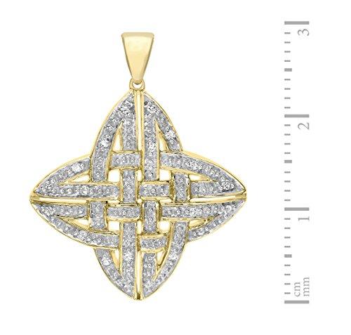 Carissima Gold - Collier - Femme - Or Jaune 375/1000 (9 cts) 3.2 gr - Diamant - 46 cm