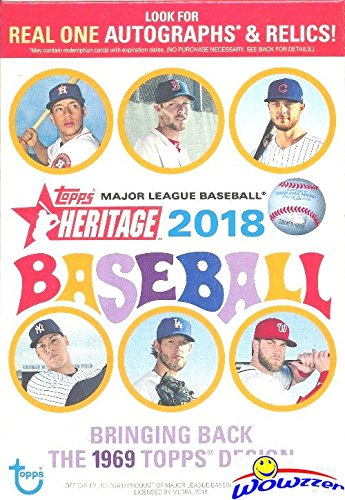 - 2018 Topps Heritage MLB Baseball EXCLUSIVE Factory Sealed Hanger Box with 35 Cards! Look for Real One Autographs, Inserts, Parallels, Relics & More! Look for SHOHEI OTHANI Rookie's & Autograph's!