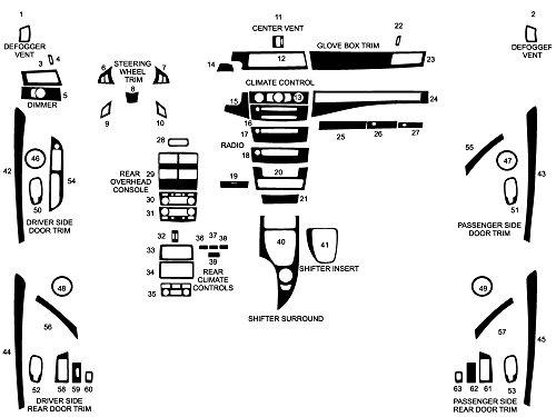 Applique Carbon Fiber - Rdash Dash Kit Decal Trim for BMW 5-Series 2008-2010 - Carbon Fiber 4D (Black)