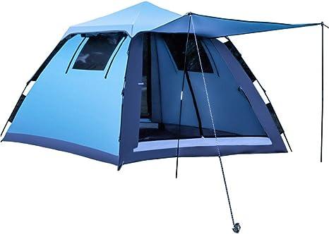 Socly Tienda De CampañA Familiar Ventilada Y Duradera Camping Playa A Prueba Viento Y Resistente Al Agua PortáTil 2/3-4 Personas,Blue: Amazon.es: Deportes y aire libre
