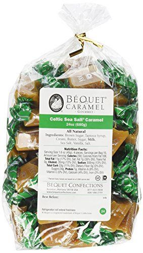 Caramel Apples Wisconsin - Bequet Gourmet Caramel - 24oz (Celtic Sea Salt)