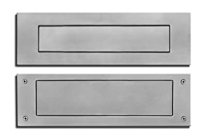 Stainless Steel Door Mail Slot Front Rear Pieces Letter Box