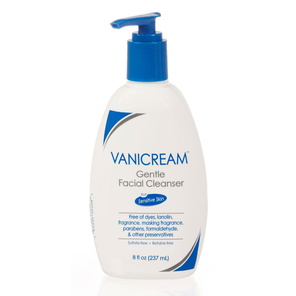 Vanicream Gentle Facial Cleanser for sensitive Skin with Pump Dispenser, 8 Ounce