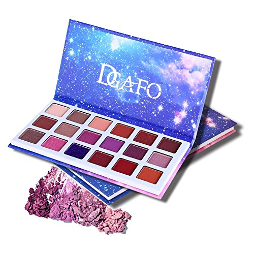 Sunsent 18 Colors Matte Eyeshadow Palette, Starry Sky Print