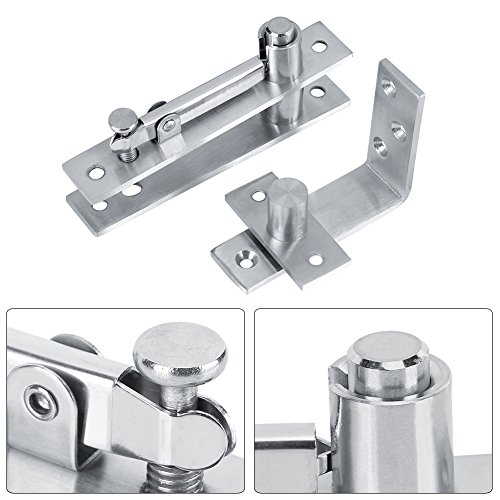 Zerodis 360 Degree Stainless Steel Door Pivot Hinge 7-Shaped Tall Building Rotary Door Hinges for Home Garage by Zerodis (Image #1)