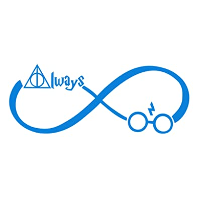 "CCI Always Harry Potter Infinity Decal Vinyl Sticker|Cars Trucks Vans Walls Laptop (Light Blue, 7.5""): Automotive"