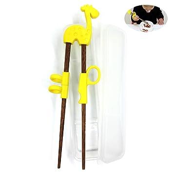 Dancepandas Training chopstick,Chopstick Helper for Children Kids,Natural Wooden Training Chopsticks