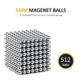 BARIHO Magnet Balls Desk Toys, Magnetic Sculpture Building Blocks Buckyballs for Intelligence, Stress Relief & Gift for Children and Christmas(512+12 Pcs)