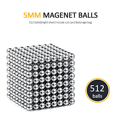 BARIHO Magnet Balls Desk Toys, Magnetic Sculpture Building Blocks Buckyballs for Intelligence, Stress Relief & Gift for Children and Christmas(512+12 Pcs) by BARIHO