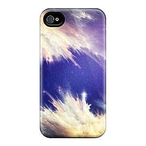 Unique Design Iphone 4/4s Durable Tpu Case Cover Space