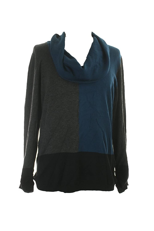 Alfani Womens Colorblock Cowl Pullover Sweater