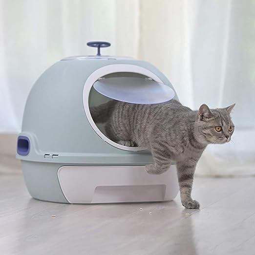 ZCY Caja De Arena para Gatos, Adjunto Completo Inodoro Gato con Cajón Grande Gato Cuenca De Arena con Automático Filtrar Desodorización Mascota Suministros CLT1002 (Color : Blue): Amazon.es: Productos para mascotas