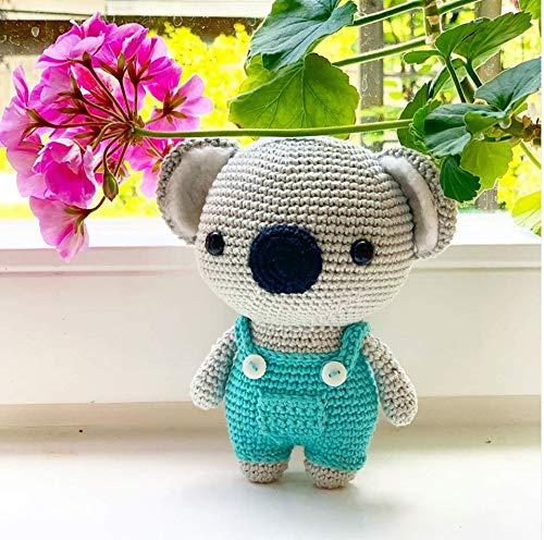 Stuffed Animal Toys - Handmade amigurumi Plaything - Christmas Gift - Present for Children - Nursery Decor (Blue Koala) by The Bunny