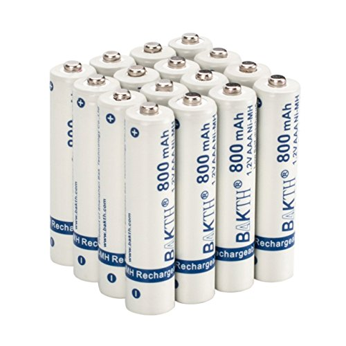 BAKTH 800mAh 1.2V AAA High Performance NiMH Cycle Low Self-D