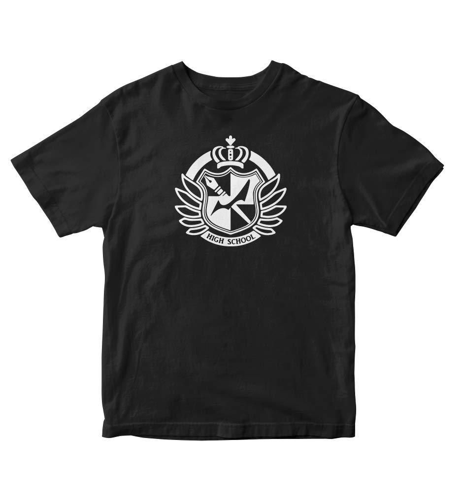 Danganronpa Hopes Peak Academy Symbol Manga Anime Black S A181 Shirts