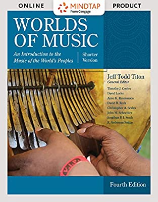 MindTap Music for Titon's Worlds of Music, Shorter Version, 4th Edition