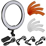 "Neewer® Camera Photo/Video 18""/ 48cm Outer 55W 240PCS LED SMD Ring Light 5500K Dimmable Ring Video Light with Plastic Color Filter Set + Universal Adapter with US/EU/UK Plug"