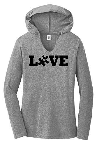 Comical Shirt Ladies Love Autism Awareness Tee Hoodie Shirt
