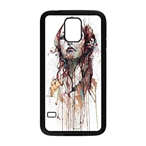 Watercolor Of A Womans Face Artistic Samsung Galaxy S5 Cell Phone Case Black PQN6053055341349