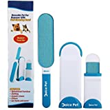 """Pet Hair and Lint Remover - Double Sided Reusable Mega Lint Roller with Single-Dip, Self-cleaning Base, Portable Easy Clean On The Go Removes Pet Hair and Lint Fast No Refills Needed Large 13"""""""