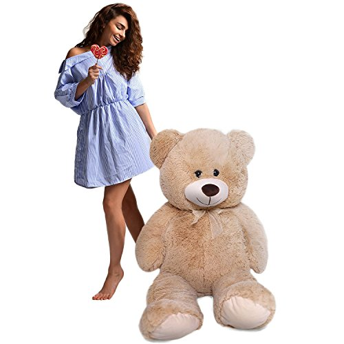 HollyHOME Teddy Bear Plush Giant Teddy Bears Stuffed Animals Teddy Bear Love 36 inch Tan