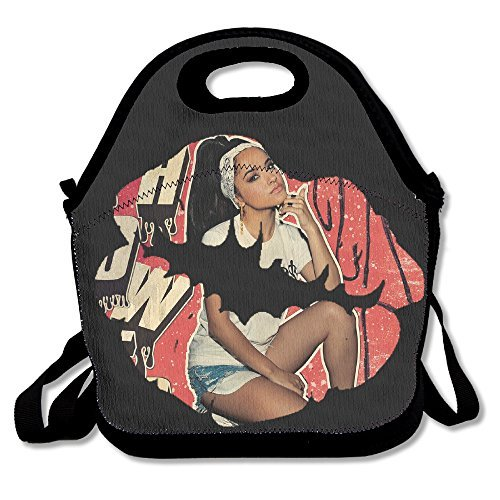 Becky G Lunch Bag Lunch Tote, Waterproof Outdoor Travel Picnic Lunch Box Bag Tote With Zipper And Adjustable Crossbody Strap (Ricky Halloween Store)