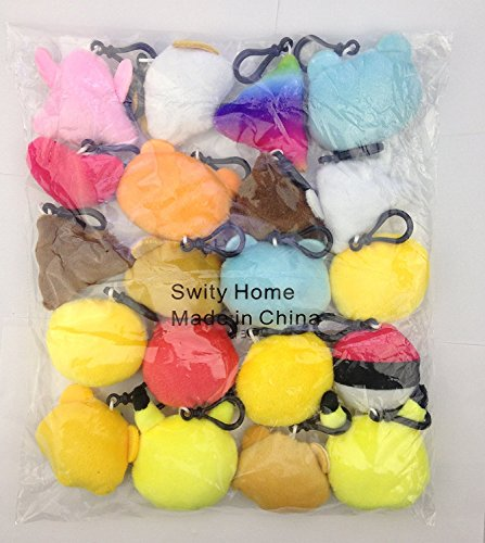 Swity Home 36 Pack Mini Emoji Plush Toy, Emoticon Toy, Mini Keychain Decorations, For Party Decoration, Party Supplies Favors, Set of 36 by Swity Home (Image #4)