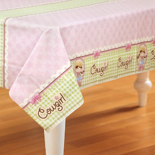 Pink Cowgirl Party Supplies - Plastic Table Cover