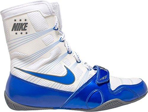 Nike HyperKO Boxing Shoes (White/Blue, 9.5 D(M) US)