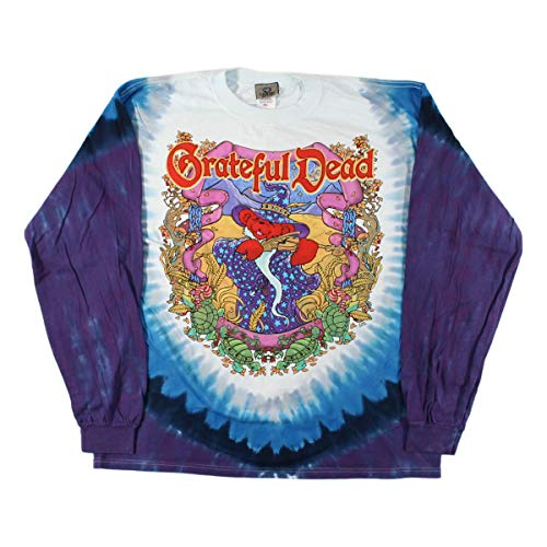 (Blue Mountain Dyes LLC Grateful Dead Terrapin Moon Long Sleeve T Shirt (X-Large))