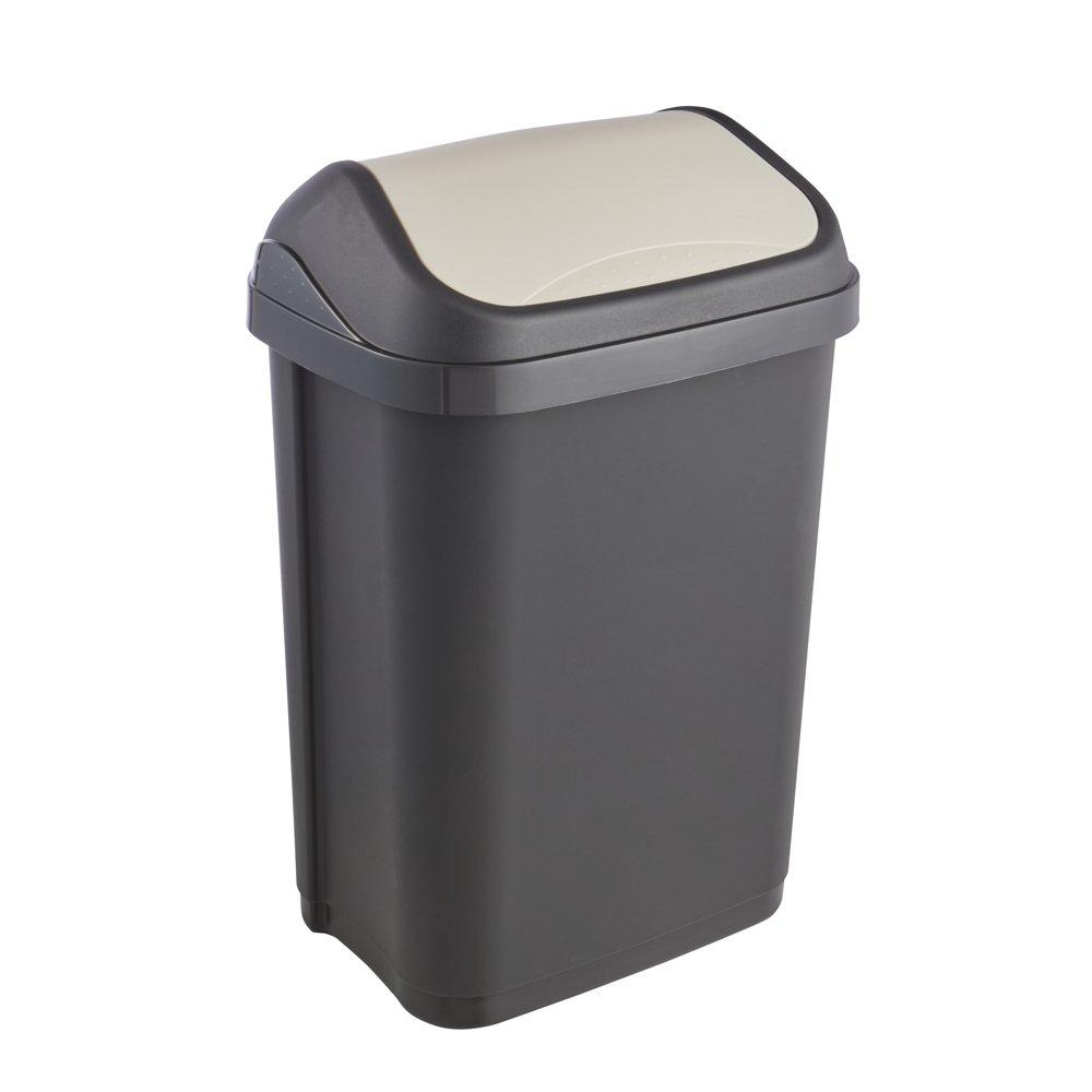 keeeper Swing bin 10 l in Graphite-Cream 10 Liter for 20-30 l Bags