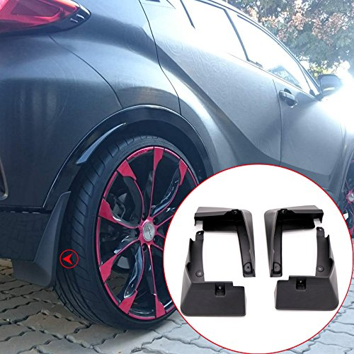 ITrims Plastic Accessories Exterior Mud Flaps Splash Guard 4PCS for Toyota C-HR 2016 2017 2018 2019