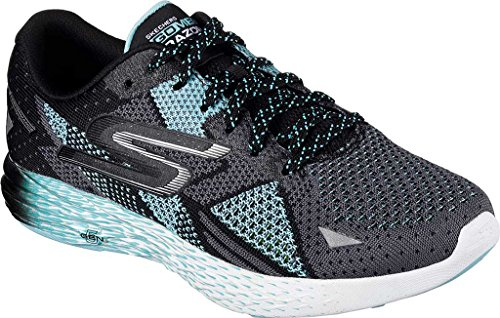 Skechers Women's Go Meb Razor Running Shoe Black/Aqua aBNYXtNUx