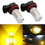 honda civic 1998 fog lights - DunGu H11 H8 H16 LED Fog Light Bulb Replacement Error Free Projector For 12-24V Vehicles Golden Yellow (Pack of 2) …