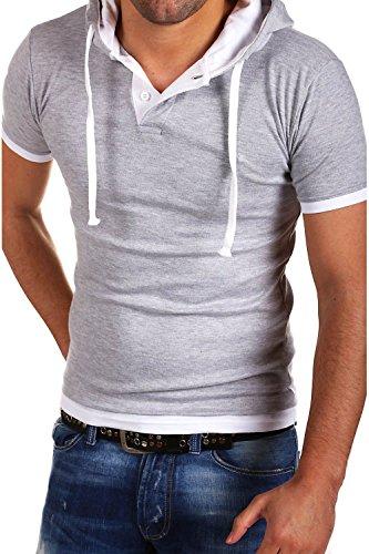 Contrasté Mt Bs 92 2in1 T Capuche Avec 678 Styles shirt Gris r6OE6