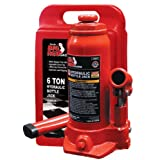 Torin Big Red T90613 Hydraulic Bottle Jack with Blow Carrying Case, 6 Ton Capacity