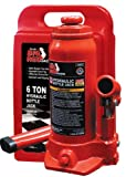 Torin Big Red Hydraulic Bottle Jack with Carrying Case, 6 Ton Capacity
