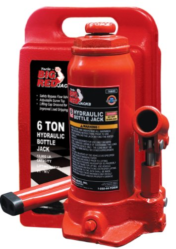 New Torin Big Red Hydraulic Bottle Jack with Carrying Case, 6 Ton Capacity