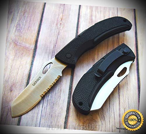 EZ-OUT DPSF LOCKBACK FOLDING SHARP KNIFE ''MADE IN USA'' RAZOR SHARP BLADE - Premium Quality Hunting Very Sharp EMT EDC Air Force Lockback Knife