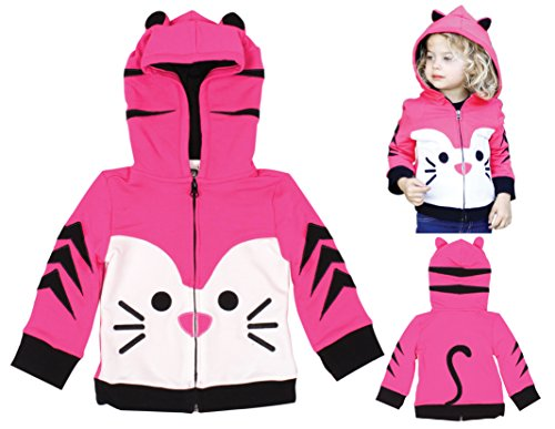 Mini Jiji Stretch Hoodie/Jacket for Baby Infant Toddler Kids (12-18 mos, Kitty)