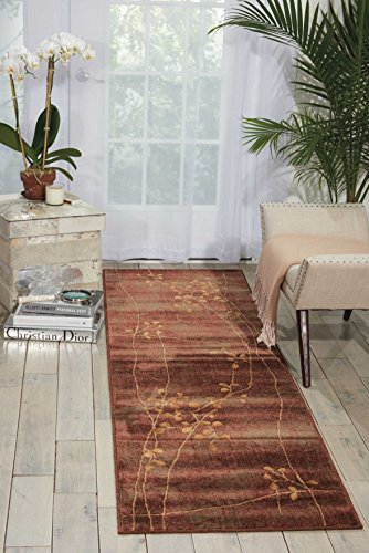Floral Vines Rectangle Rug (Nourison Somerset (ST74) Multicolor Runner Area Rug, 2-Feet 3-Inches by 8-Feet  (2'3