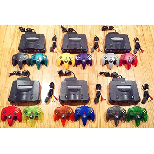Nintendo 64 Console + 2 Genuine Controllers TIGHT STICKS + Cords + 2 FREE GAMES