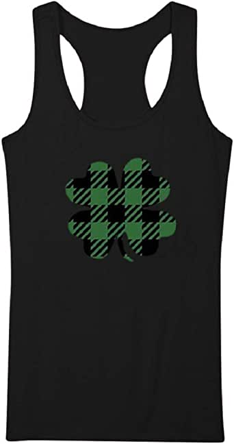 Aonember Women's Sleeveless Tank Top Print Casual Loose Fit Racerback Tunics T-Shirt St Patrick's Day Clothes Black