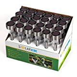 24 Pack Outdoor Stainless Steel Led Solar Power Lights Lawn Landscape Path Light