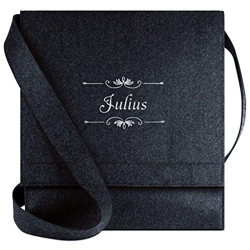 Halfar® Tasche mit Namen Julius bestickt - personalisierte Filz-Umhängetasche WpCVr
