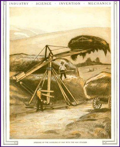 1921 Cover Art Image of New HAY Stacking Equipment Original Paper Ephemera Authentic Vintage Print Magazine Ad/Article