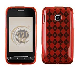 Red Check Protector Case for LG Optimus 2 AS680