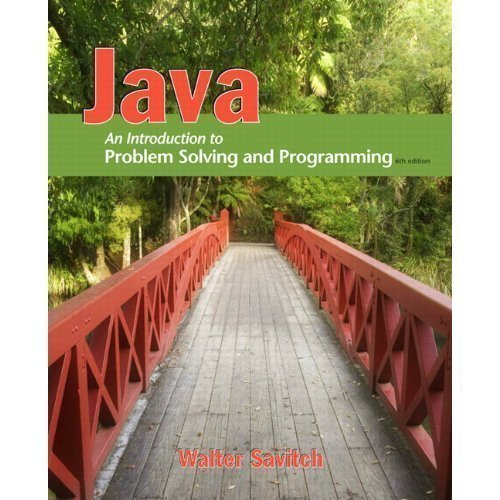 Java: Introduction to Puzzle Solving and Programming & MyProgrammingLab with Pearson eText Student Access Code Card for Java (6th Edition) 6th (sixth) Issue by Savitch, Walter published by Addison-Wesley (2011)